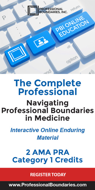 PBI(Professional Boundaries in Medicine)