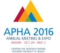 American Public Health Association (APHA) Annual Meeting 2016
