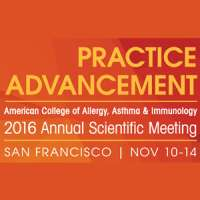 American College of Allergy, Asthma and Immunology (ACAAI) Annual Scientific Meeting 2016