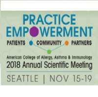 American College of Allergy, Asthma & Immunology (ACAAI) 2018 Annual Scient