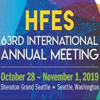 Human Factors and Ergonomics Society (HFES) 63rd