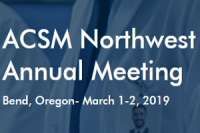 2019 American College of Sports Medicine (ACSM) Northwest Annual Meeting