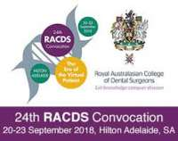 24th Royal Australasian College of Dental Surgeons 2018 Convocation