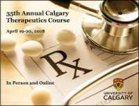 ONLINE - 35th Annual Calgary Therapeutics Course