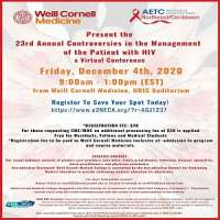 23rd Annual Controversies in the Management of the Patient with HIV a virtual conference